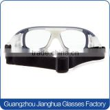 Trendy prescription dust protective safety glasses transparent blue frame basketball vollayball goggles