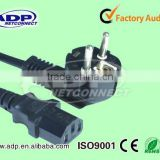 BLACK DOULBE COATED CABLE DC POWER CORD