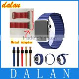 Genuine leather Loop For Apple Watch strap 42mm 38mm With Metal Adapter Adjustable Magnetic