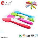 wholesale food grade silicone colorful silicone cooking flexible spatula set kitchenware