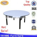 Modern folding muti-functional used round banquet event tables for sale in dining room furniture                                                                         Quality Choice