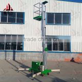 mobile hydraulic telescopic protable lift work platform/single mast aluminum alloy man lift platform                                                                         Quality Choice