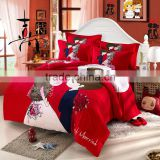 reactive printed fashion bedroom set 100% cotton wedding luxury bedding comforter                                                                         Quality Choice