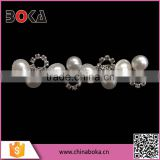 BOKA elegant rhinestone and pearl trimming, high quality crystal pearl trim for wedding dresses