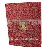 Nice Glitter Paper Ring Binder Desktop File Folder for Office Stationery Cardboard A4 or FC Size