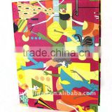 Office Lady Color PU Wrapping Ring Binder Desktop File Folder for Office Stationery Cardboard A4 or FC Size