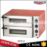 Chinese 220v Electric powered double layers commercial 201 stainless steel pizza oven kitchen equipment with 2 pcs