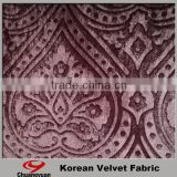 Chinese Popular warp knitting Manufacturer Textiles Brushed Polyester Spandex Velvet Fabric