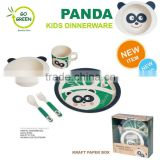 Children Kids Dinner Breakfast Tumbler, Bowl & Plate Set &Cup &Spoon,Bamboo Fibre kids dinner set