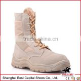 2014 High Quality Speed Lace Leather Military Tan Desert Boots/ Tan army boots