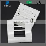 Network Cable Face Plate 1/2 Port Modular Jack Face Plate, RJ45 Keystone Jack Face Plate