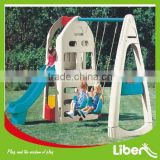 Indoor Kids Plastic Slide with swings for baby playing LE.HT.031