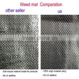 100gsm pp virgin material with uv treatment for grass control and weed mat ground sheet cover