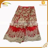 wholesale high quality latest Italian decorative embroidery stretch silk fabric market in african