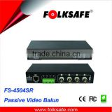 Fplksafe 4-Channel Passive Video Transmitter and Female BNC connector, Folksfae FS-4504SR
