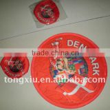 2011 full color foldable fabric polyester Frisbee