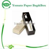 luxury printed logo stamped set up rigid cardboard chipboard gift single bottle wine packaging box