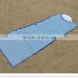 zippered plastic beach mat with pillow