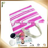 Popwide newest 2014 Color stripes Beach Bag/ 600d polyester canvas tote bag                                                                         Quality Choice