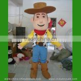 Commercial cow boy mascot costume / cartoon mascot costume / funny mascot costumes for festival