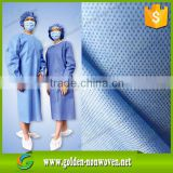 China medical sms blue color nonwoven fabric/Fluid resistance sterile disposable SMS medical gown/smms non woven fabric