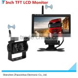 Wireless Car Rearview Waterproof Camera Back up night vision camera wireless truck rearview camera,7 Inch TFT LCD M