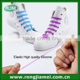 Elastic silicone shoelaces sneaker running shoe fashion laces factory manufacture                                                                         Quality Choice