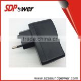 high quality portable USB wall mount charger switching power adapter 5V2A for tablet pc mobile phone