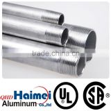 aluminum round tube with threaded pipe fittings