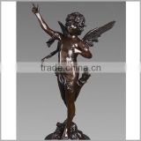 Garden Modern Art Bronze Angel Boy Sculpture for Decoration