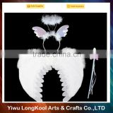 2016 factory direct sale fairy butterfly wings set white feather wings for party decoration