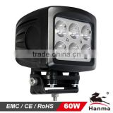 2014 NEW!5.3' 60W 6X10W CREE LED led truck work light, 12/24V on excavator,farming,trailer,Truck,Mining,Forklifts,IP68