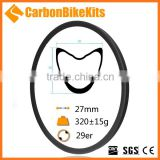 CarbonBikeKits 18-36H hole Tubular carbon rims mtb 29e 30mm depth 30mm width 3K/UD matt rims for carbon mountain bike XC29-30-T