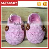 A-188 Hand Crochet Baby Shoes Baby Knitting Infant Indoor Slipper Shoes Crochet Prewalk Shoes