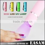 Aluminum Alloy Mini UV Gel Curing Lamp Portable Nail Dryer LED Flashlight Torch                                                                         Quality Choice