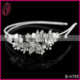 Wedding dress accessories hair ornament Bride crystals& imitated pearls hairband headband