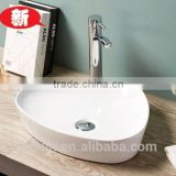 LELIN latest super thin slim edge art ceramic basin lavatory bowl sink triangle counter top basin bathroom vanity wash basin