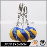 Good Quality in bulk Customized Your Own Style Cheap Colorful Volleyball Keychain llaveros