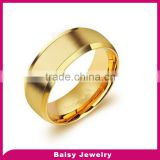 wholesale most popular gold plated custom 316l stainless steel engraved ring band