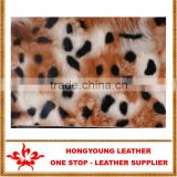 Fox grain shining surface semi-leather for making plastic bags,souvenir bags, woman'sluggages