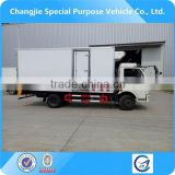 dongfeng refrigerated cold room van truck