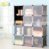 Modern design home furniture clear plastic bookcase