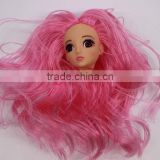 lovely plastic doll heads crafts, plastic doll face model for girl,