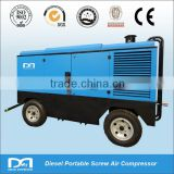 Trailer mounted Diesel portable Air Compressor for mining