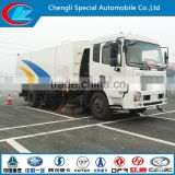 China manufacture Vacuum Suction broom sweeping truck for sale low price road sweeper truck