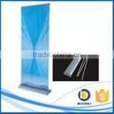 Trade show customized aluminum wide base roll up display stand, water drop roll up stand, wide base roll up banner