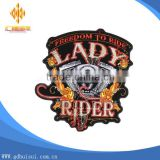 Top design lady cheapest custom logo embroidery patch without MOQ