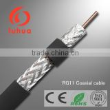 15years experience RG sseries coaxial cable as RG11 RG6 RG59 for CCTV CATV MATV system 75ohm (CE RoHS ISO9001)