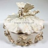 novelty fairy beautiful decorative resin custom jewelry box