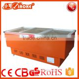 DG-210W used glass door air energy fruit cooler Red Color Supermarket Meat Display Refrigerator
